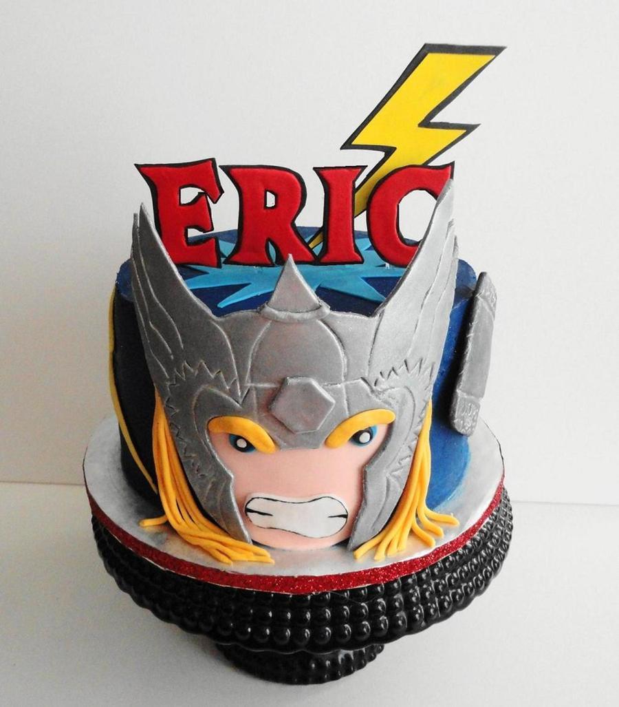 Strange Thor Avenger Cake Cakecentral Com Personalised Birthday Cards Paralily Jamesorg
