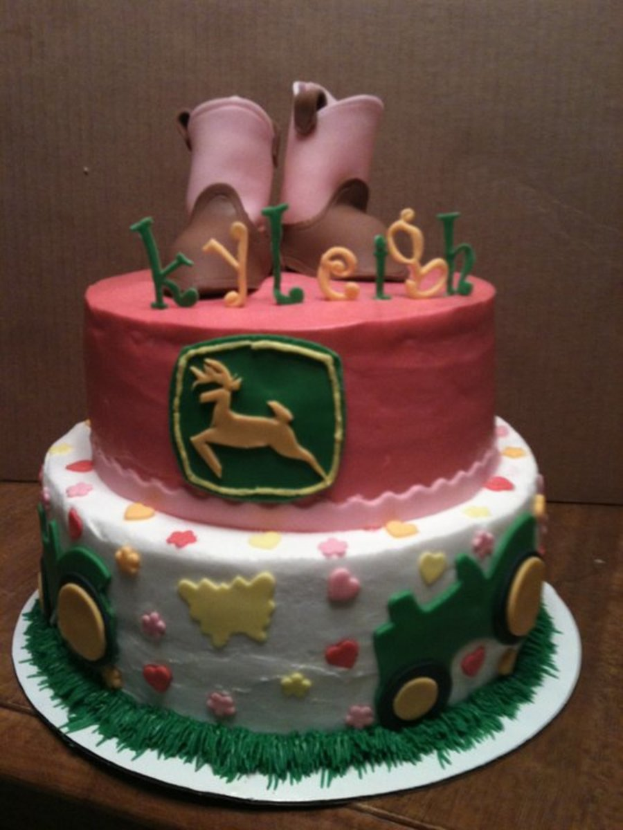Pink John Deere Baby Shower Cake Ideas