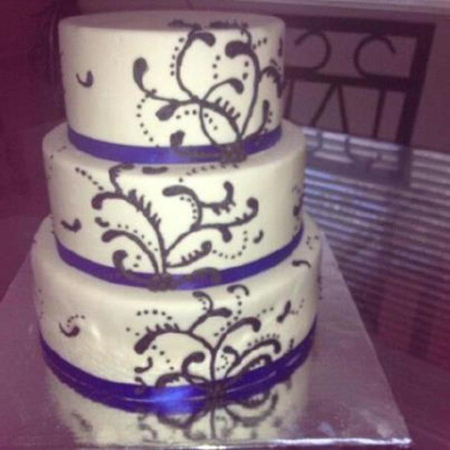 Wedding Cake With Filigree Pattern on Cake Central