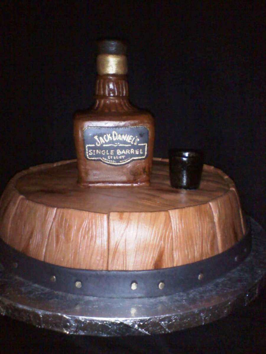 Jack Daniels Whisky Barrel Cake Cakecentral Com