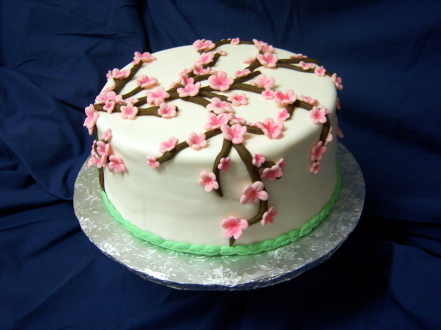 My First Attempt At A Blossom Cake Was For A Friends Birthday on Cake Central
