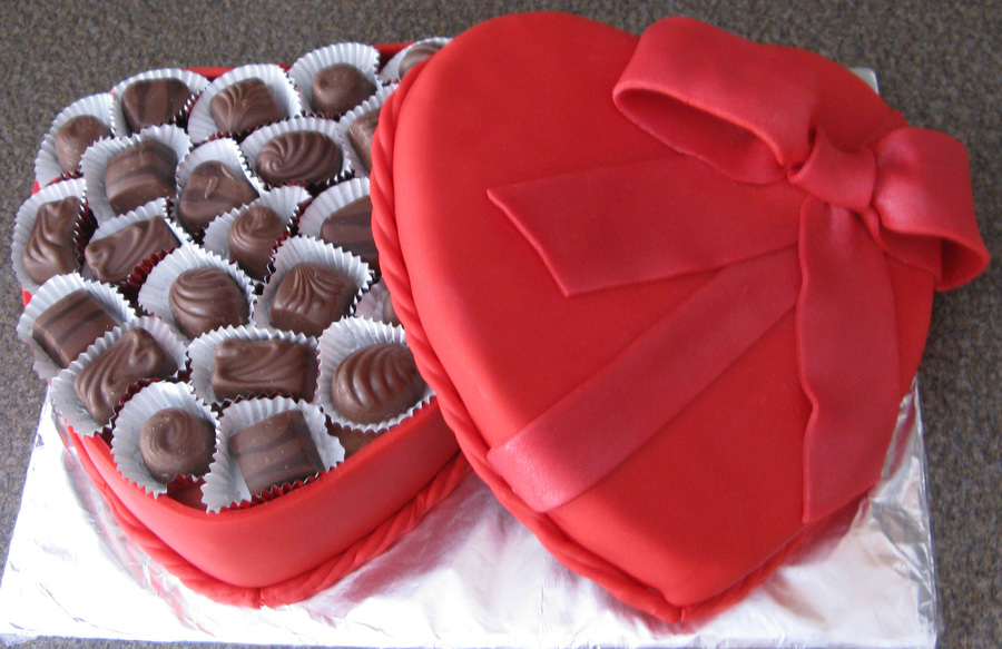 Valentine's Chocolate Box on Cake Central