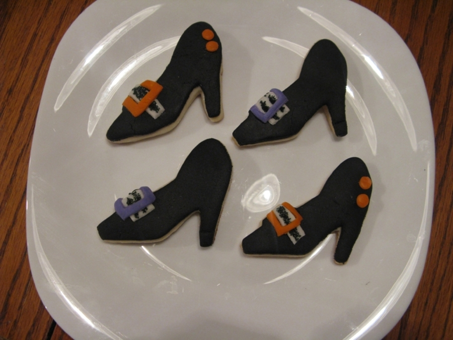 Witch Shoe Cookies on Cake Central