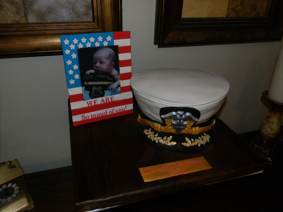 Navy Officer's Hat on Cake Central