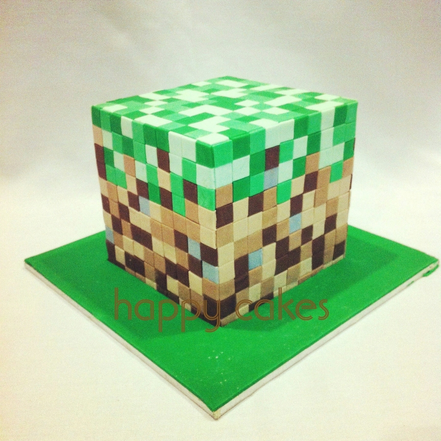 Minecraft Block Cake Images : Minecraft Grass Block - CakeCentral.com