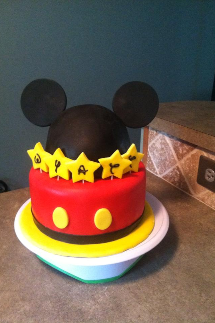Mickey Mouse Ears Birthday Cake