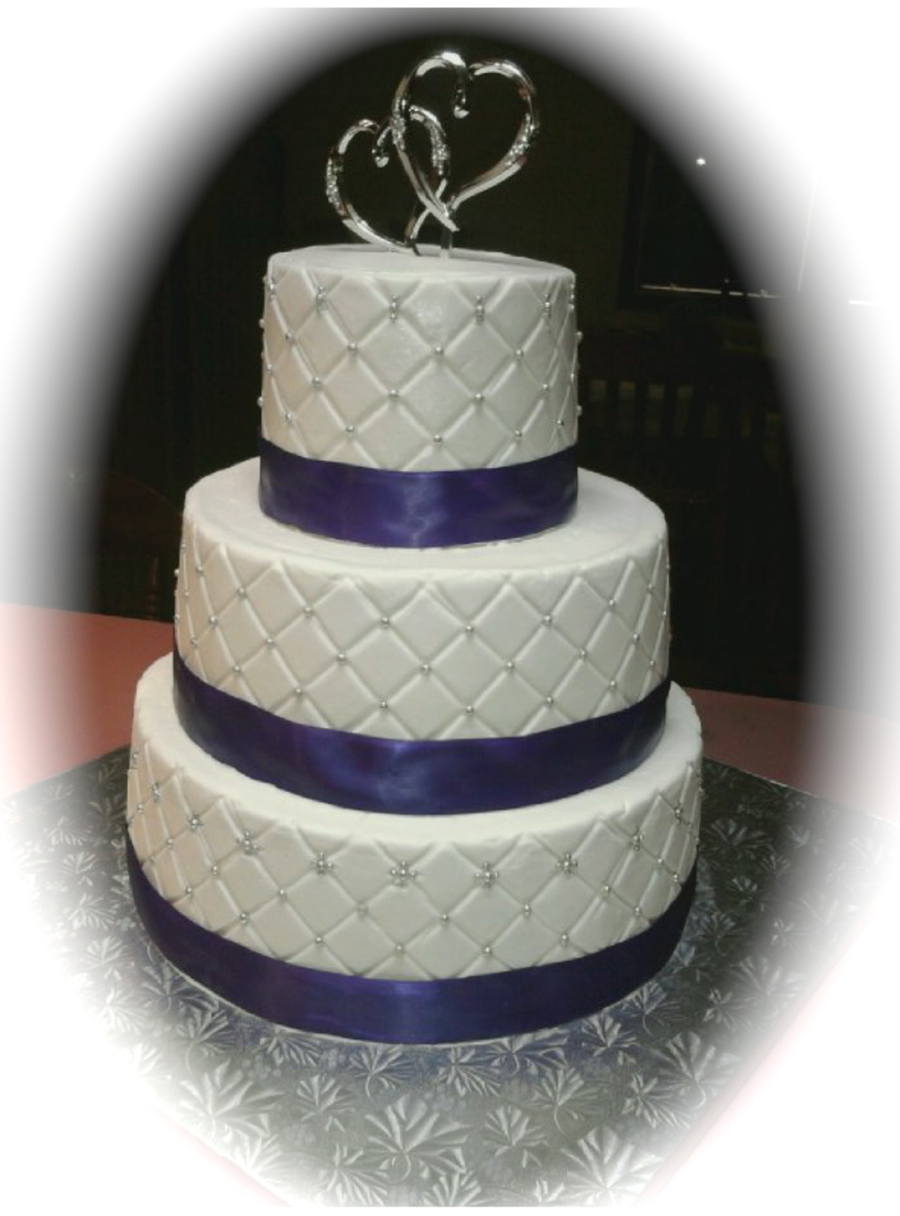 Purple And Silver on Cake Central