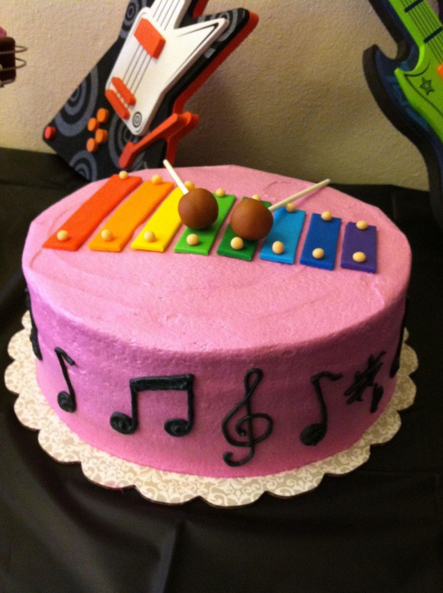 Xylophone Birthday Cake on Cake Central