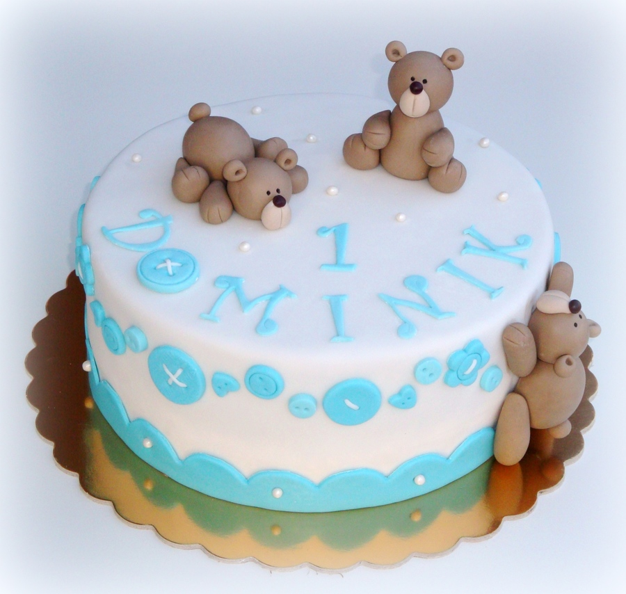 Teddy Bears And Buttons on Cake Central