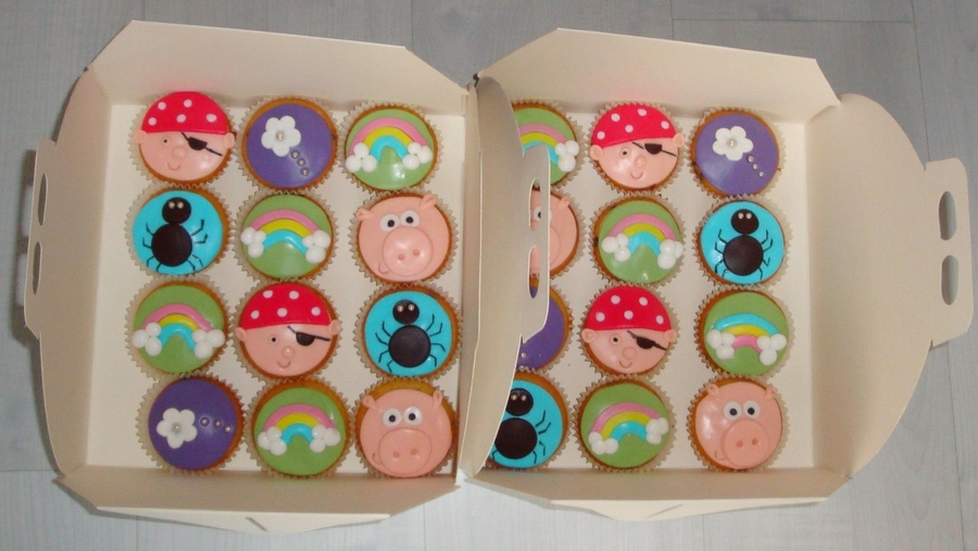 Funny Cupcakes  on Cake Central