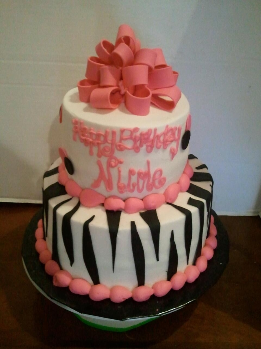 Hot Pink With Zebra on Cake Central