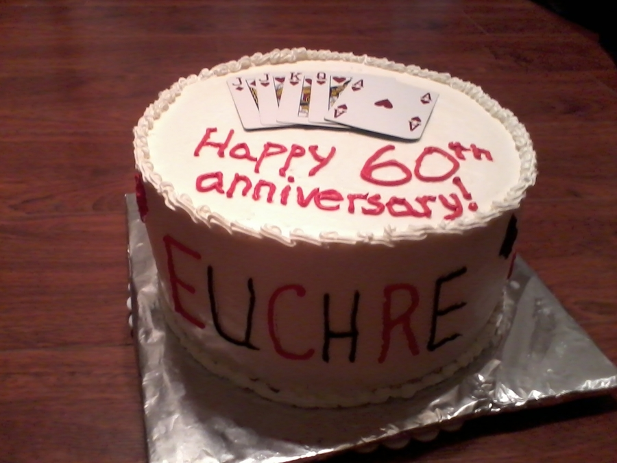 Euchre Cake on Cake Central