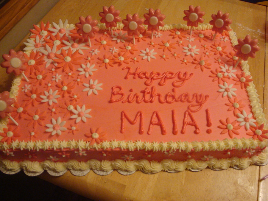 Pink Flower Birthday Cake on Cake Central