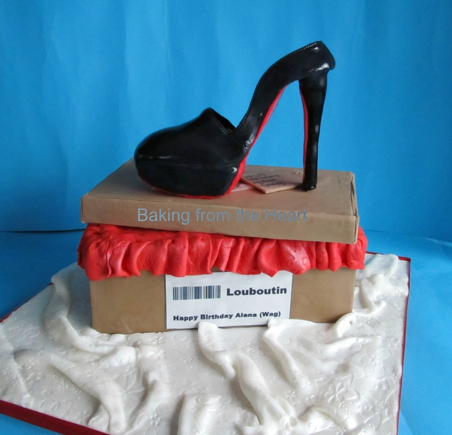 Shoe Box Cake With Louboutin Shoe. on Cake Central