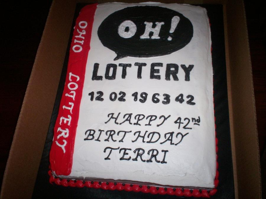 Free Birthday Lottery ~ Ohio lottery birthday cake cakecentral