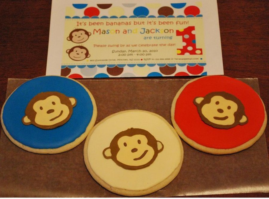 Twin Birthday Monkey Theme on Cake Central