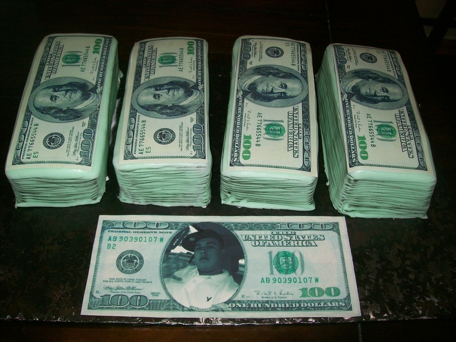 Money Stack Cake  on Cake Central