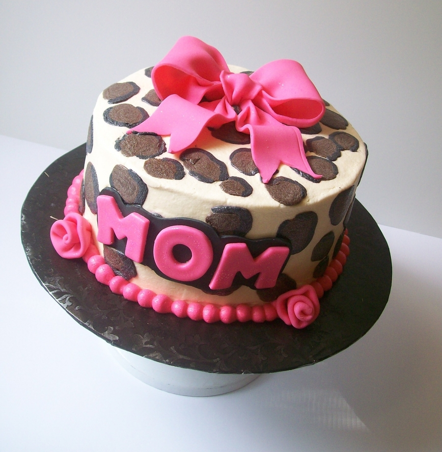 Buttercream Cheetah Cake on Cake Central