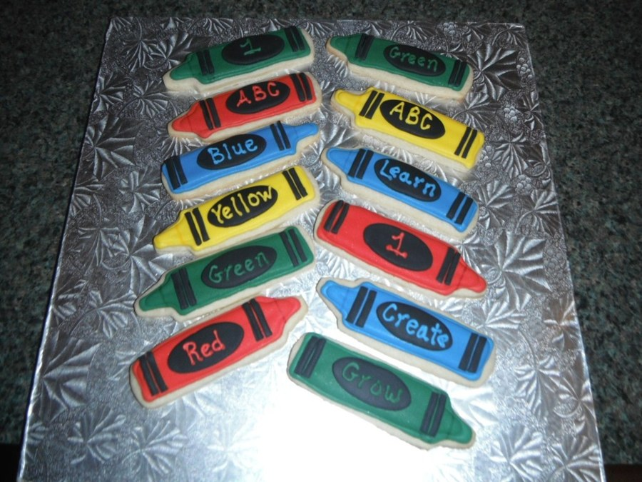 Crayon Cookies For A 1St Birthday Celebration on Cake Central