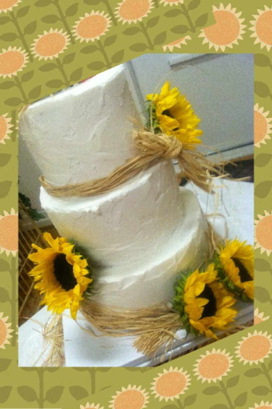 Rustic Sunflower Wedding on Cake Central