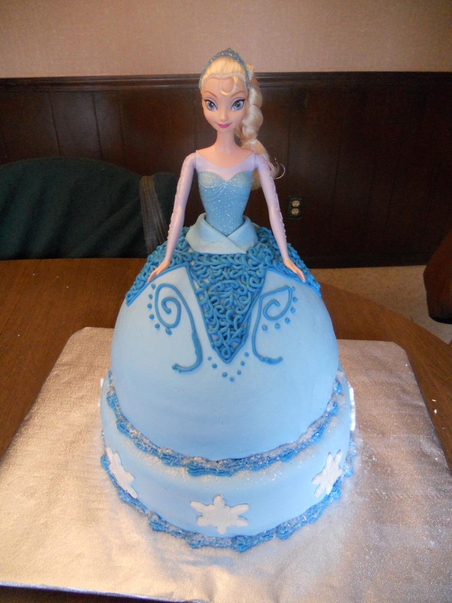 Frozen Elsa Doll Birthday Cake CakeCentralcom