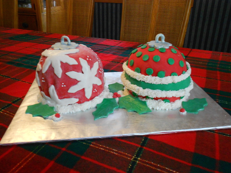Christmas Ornaments on Cake Central