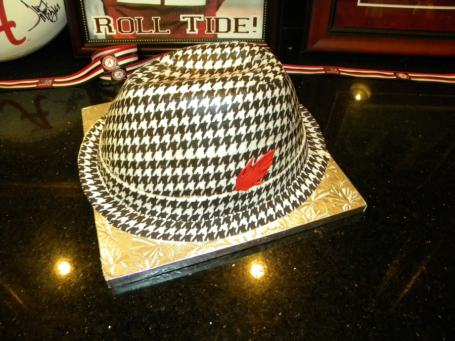 Bear Bryant Houndstooth Hat on Cake Central
