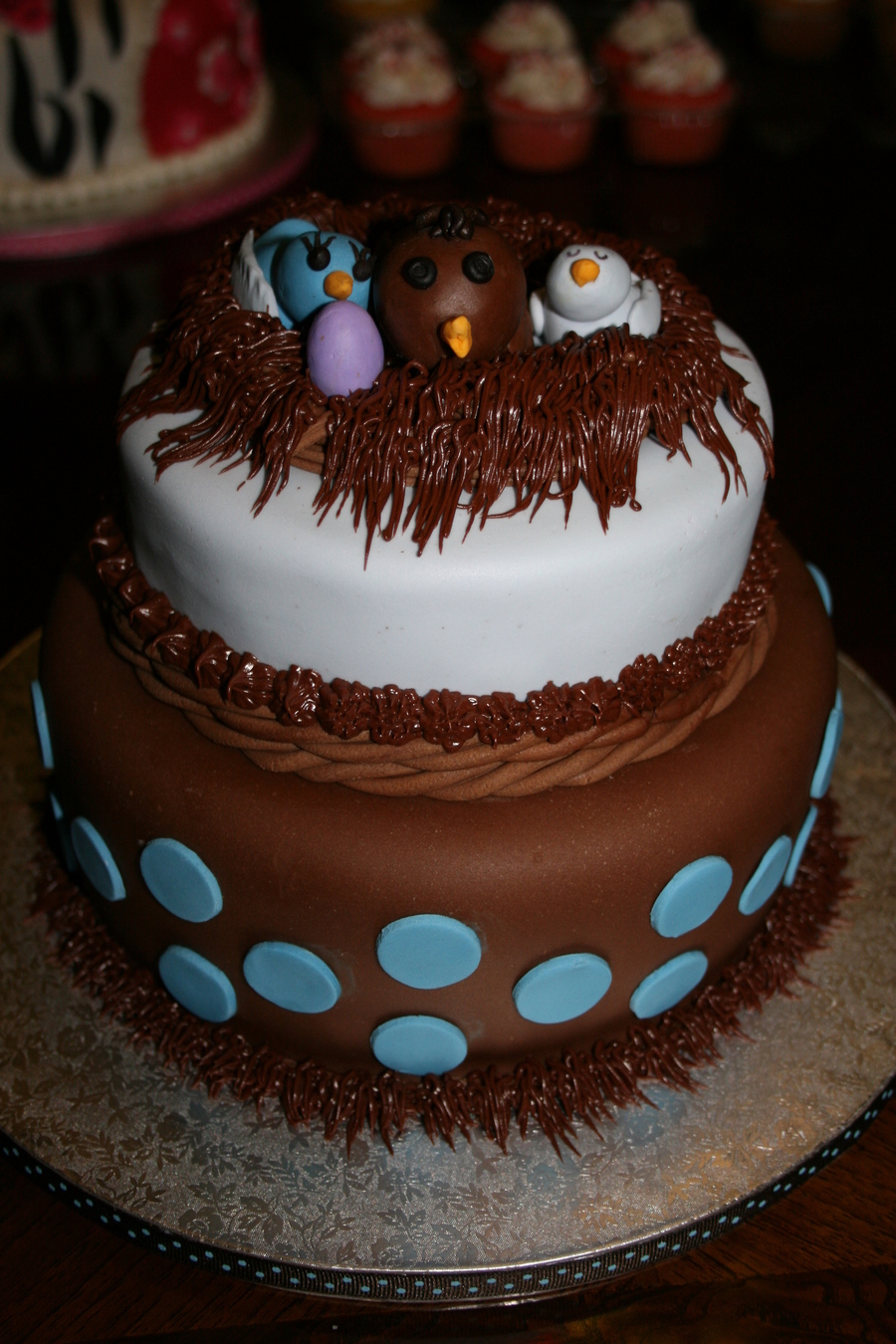 """let's Feather Their Nest"" on Cake Central"