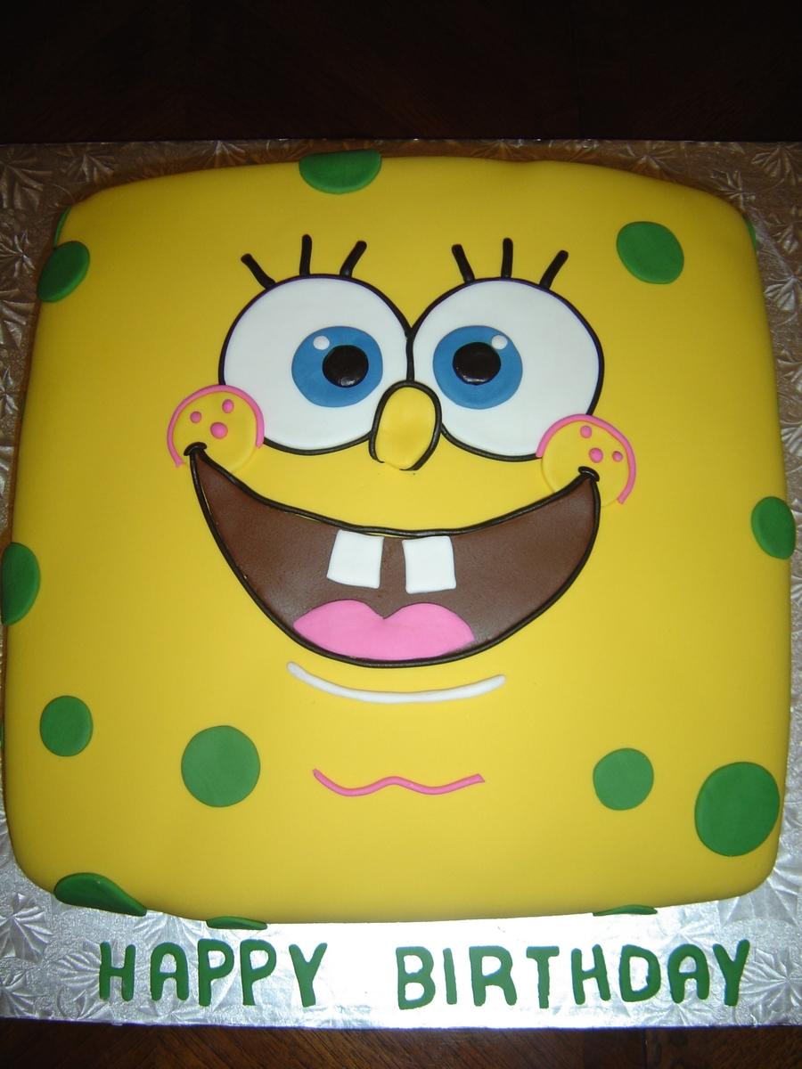 Spongebob Birthday Cake Design : Spongebob Squarepants Birthday Cake - CakeCentral.com