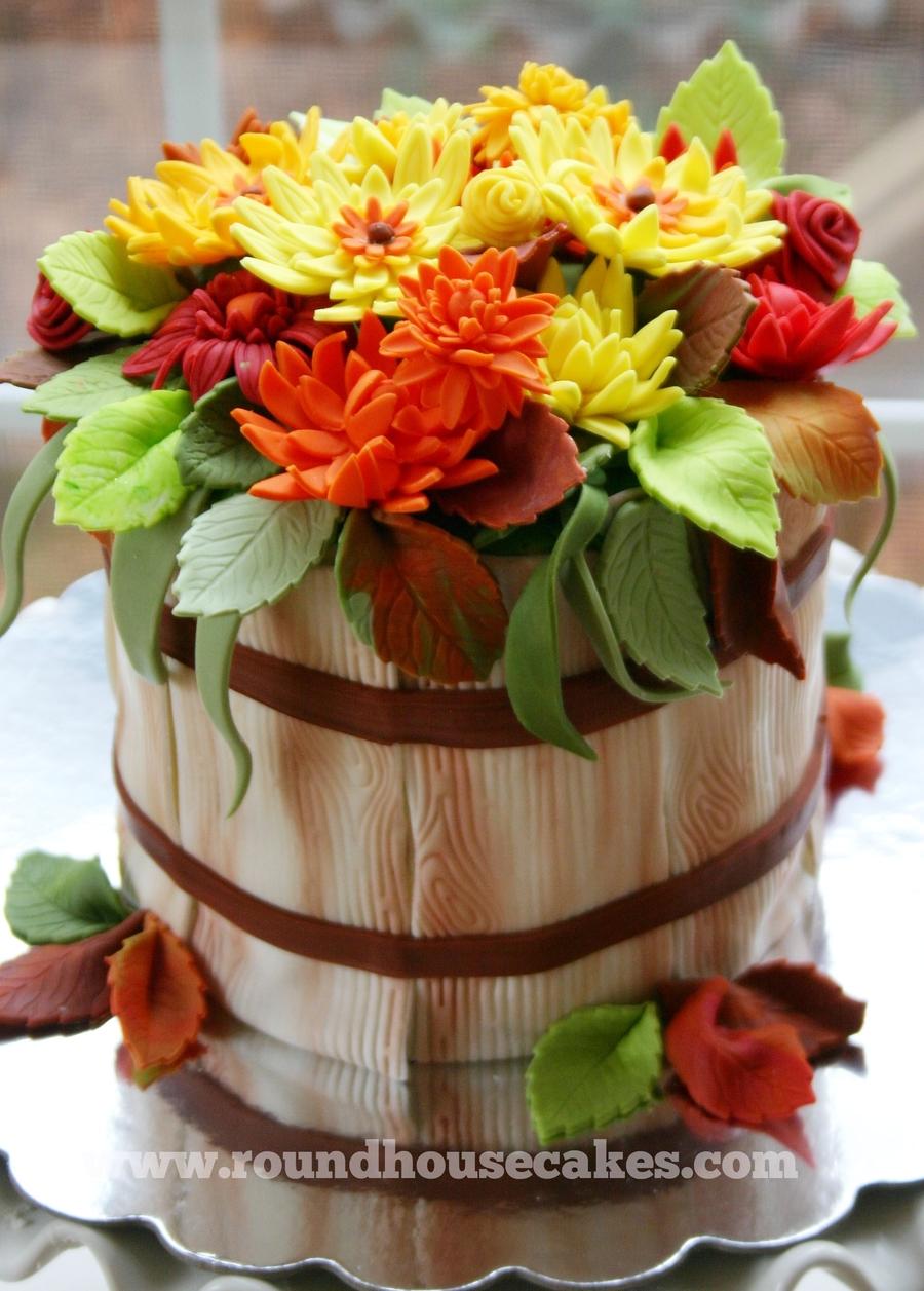 Autumn Flower Basket Cake Cakecentral Com