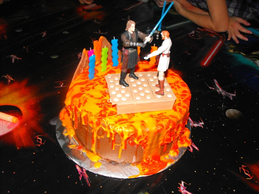 Battle Of Mustafar on Cake Central