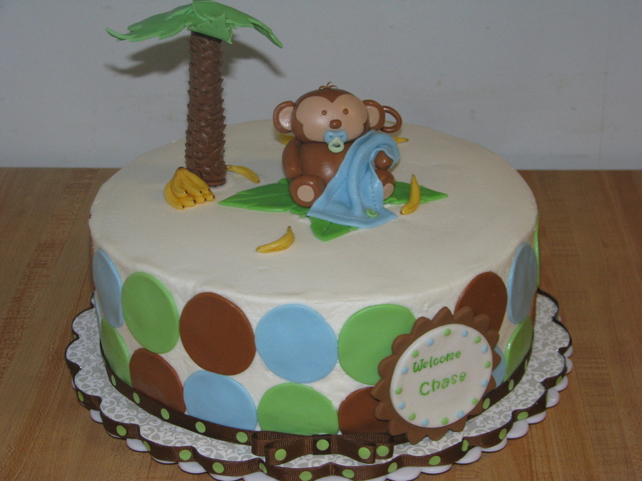 Jungle Monkey Baby Shower on Cake Central