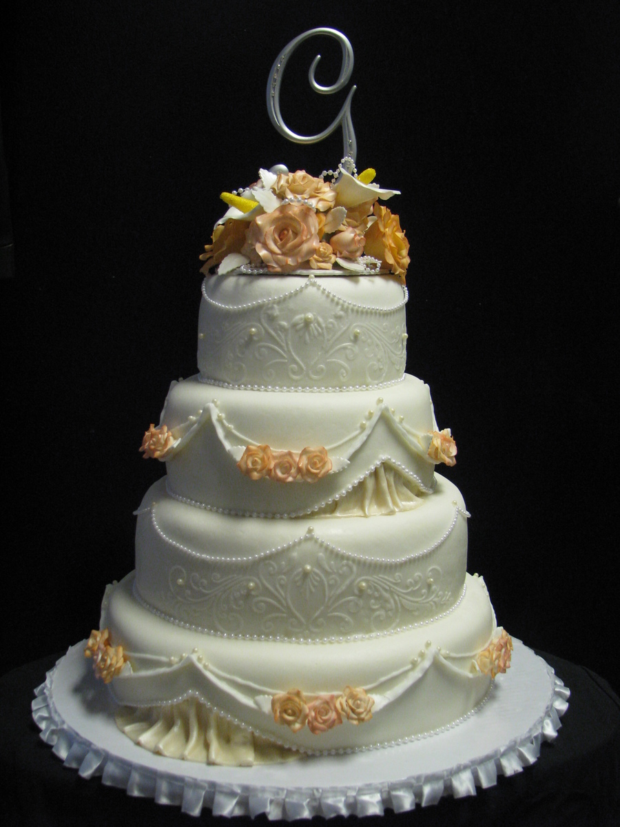 Romantic Victorian Wedding  on Cake Central