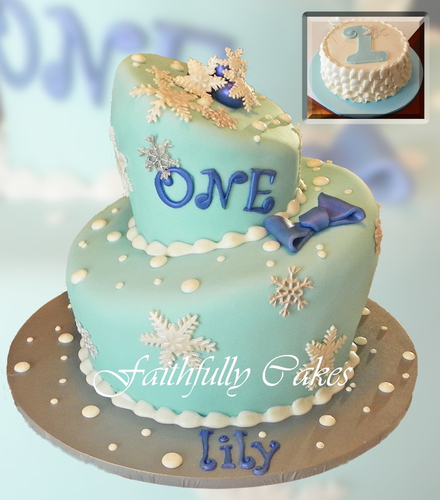 Snowflake 1St Birthday on Cake Central