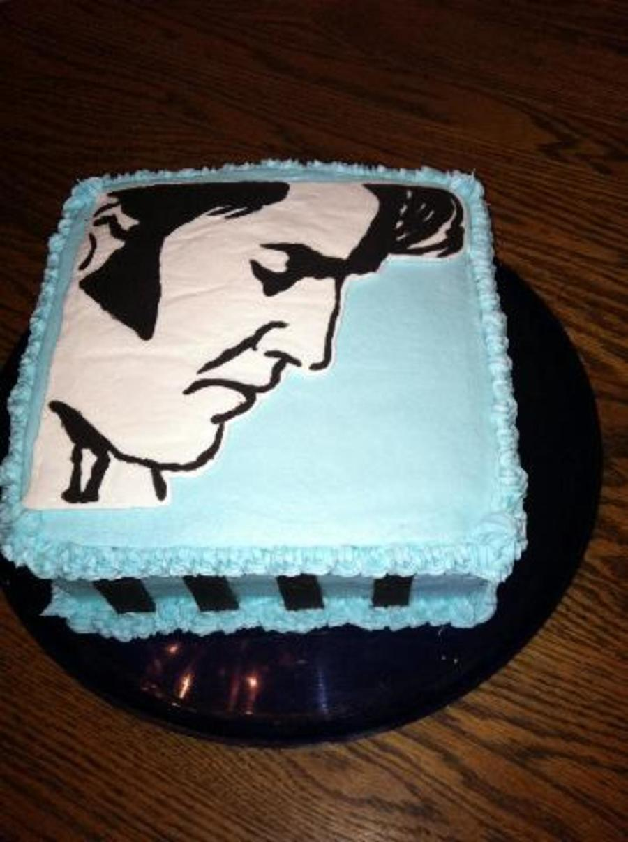 Happy Birthday Cake With Elvis