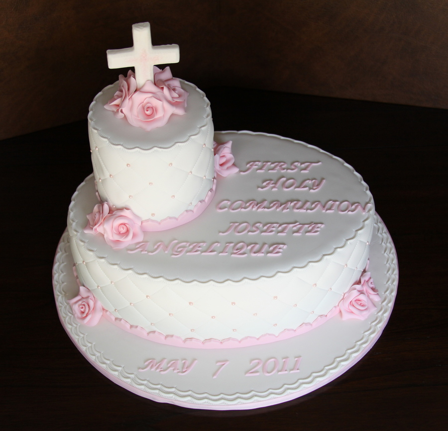 Rose Communion Cake on Cake Central