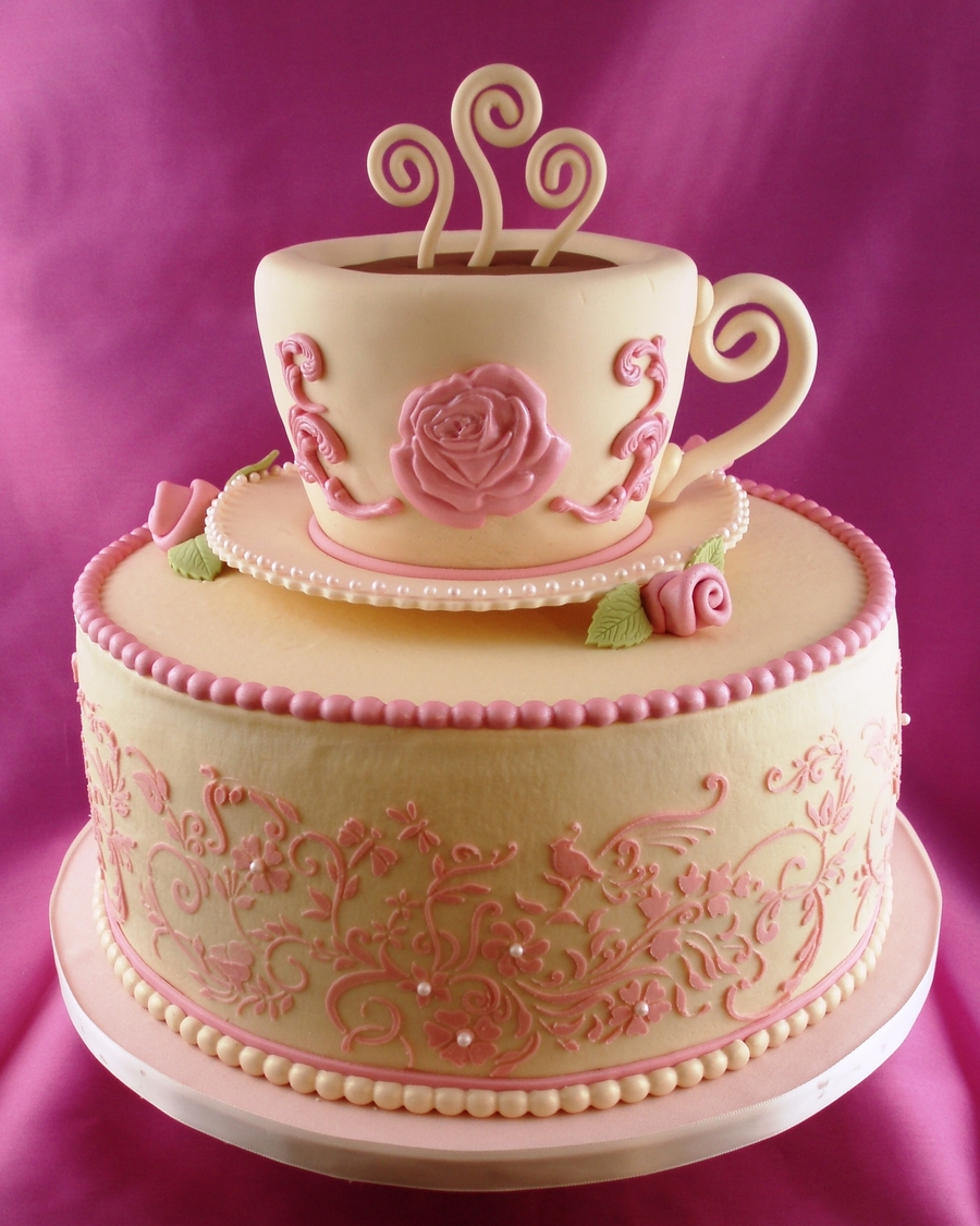 Vintage Tea Party on Cake Central