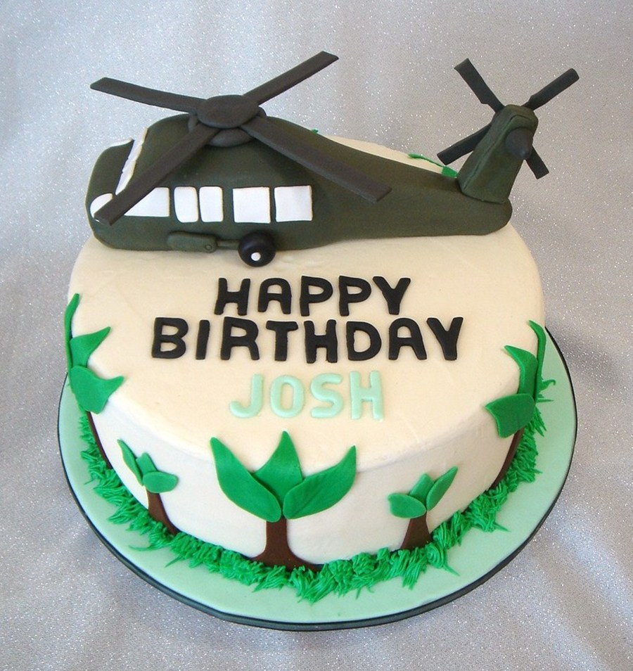 Blackhawk Helicopter Birthday Cake Cakecentral Com