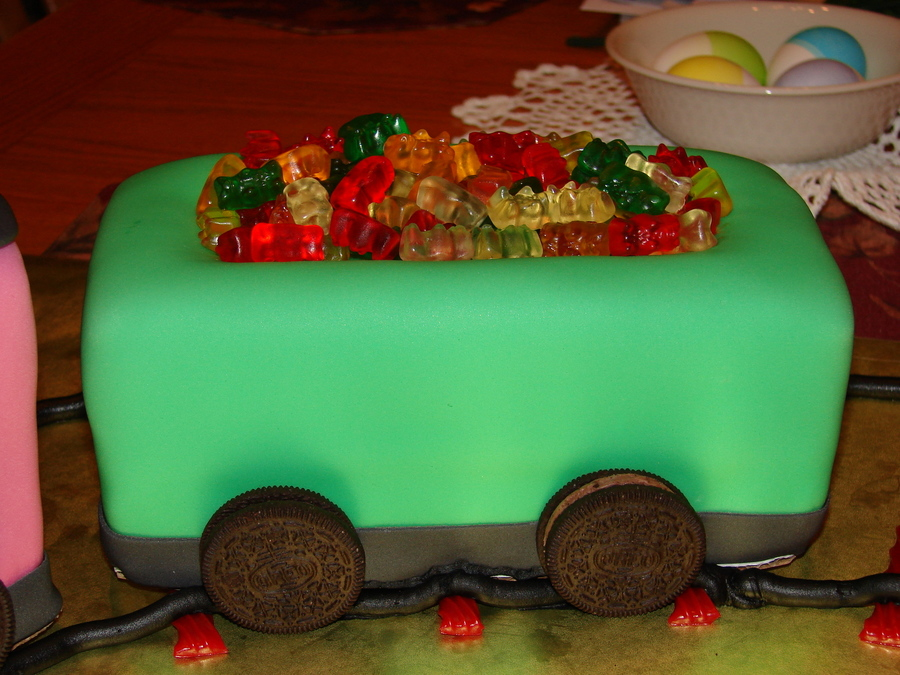 Train Themed Cake For Four Kids One Girl And Three Boys With April Birthdays At A Local Shelter Everything Is Edible Used Variety Of Candy To