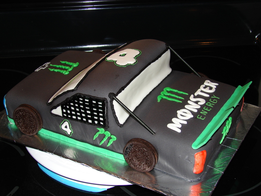 Monster Energy Drink Racing Truck on Cake Central