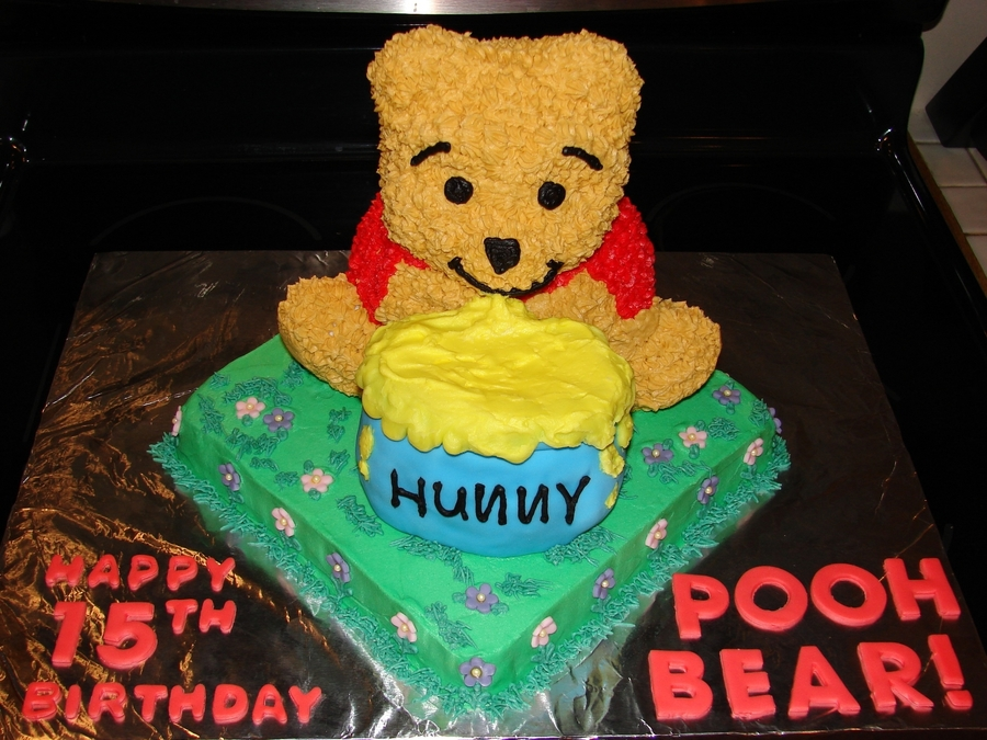 Pleasing Winnie The Pooh Birthday Cake Cakecentral Com Personalised Birthday Cards Veneteletsinfo