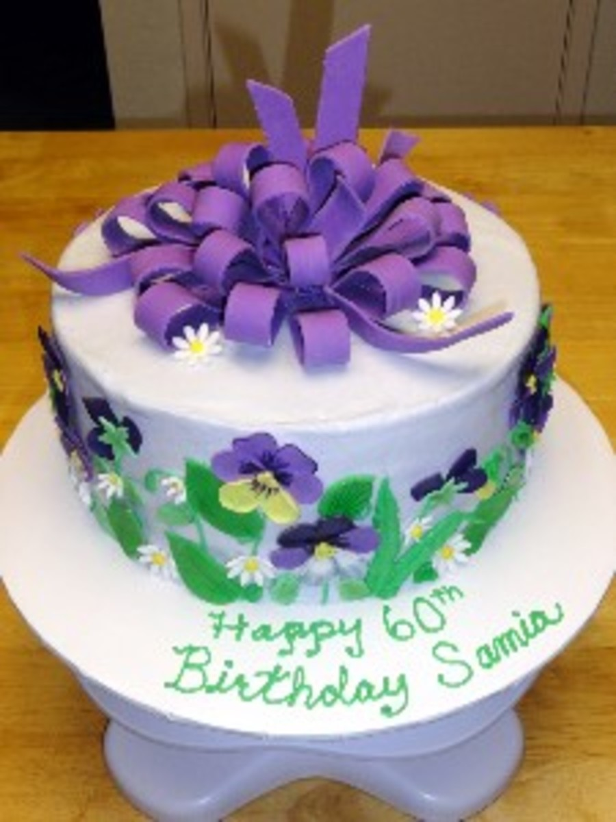 Pansy Cake Images