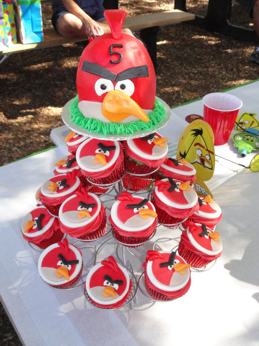 Pleasant Angry Birds Birthday Cakecentral Com Funny Birthday Cards Online Overcheapnameinfo