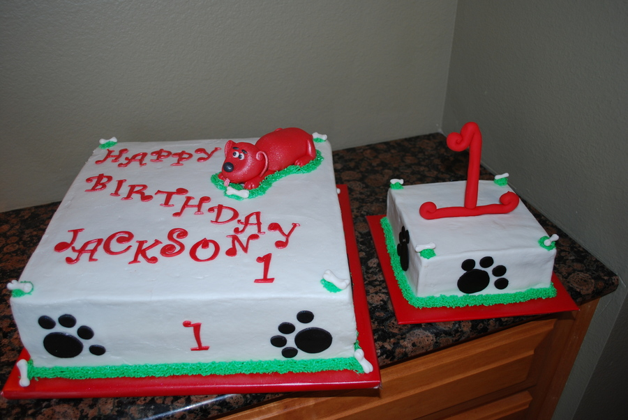 Fine Clifford The Big Red Dog Cakecentral Com Personalised Birthday Cards Petedlily Jamesorg