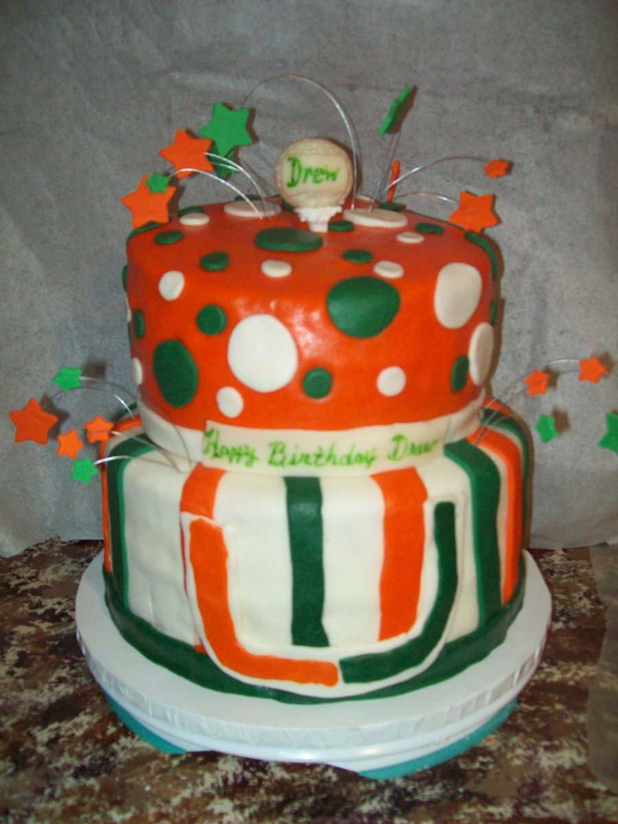 Birthday Cake Miami Hurricanes Golf Cakecentral