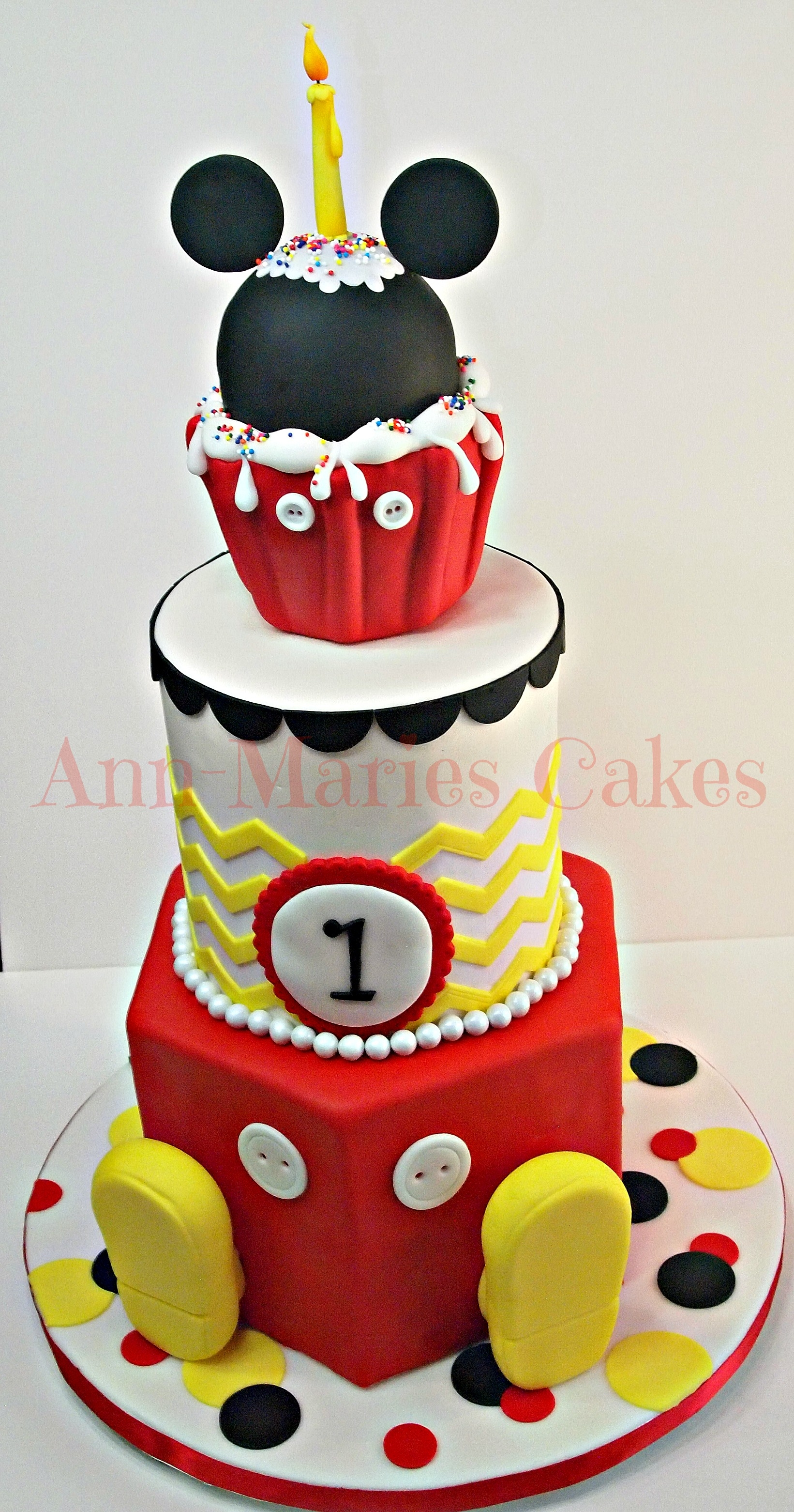 Mickey Mouse Candle Cake Topper