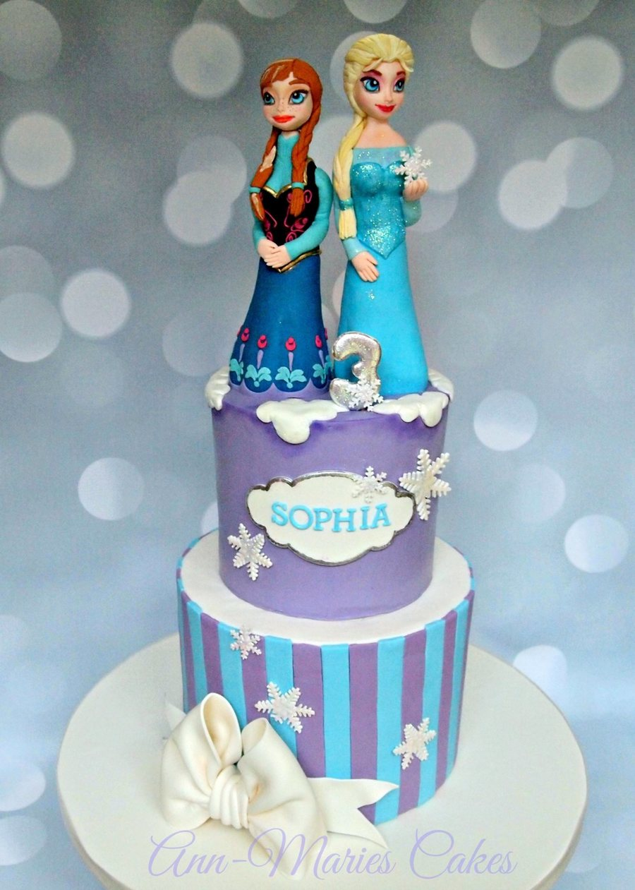 Frozen Birthday With Elsa And Anna Cakecentral