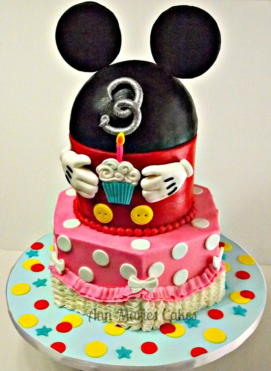 Girly Mickey Mouse Clubhouse on Cake Central