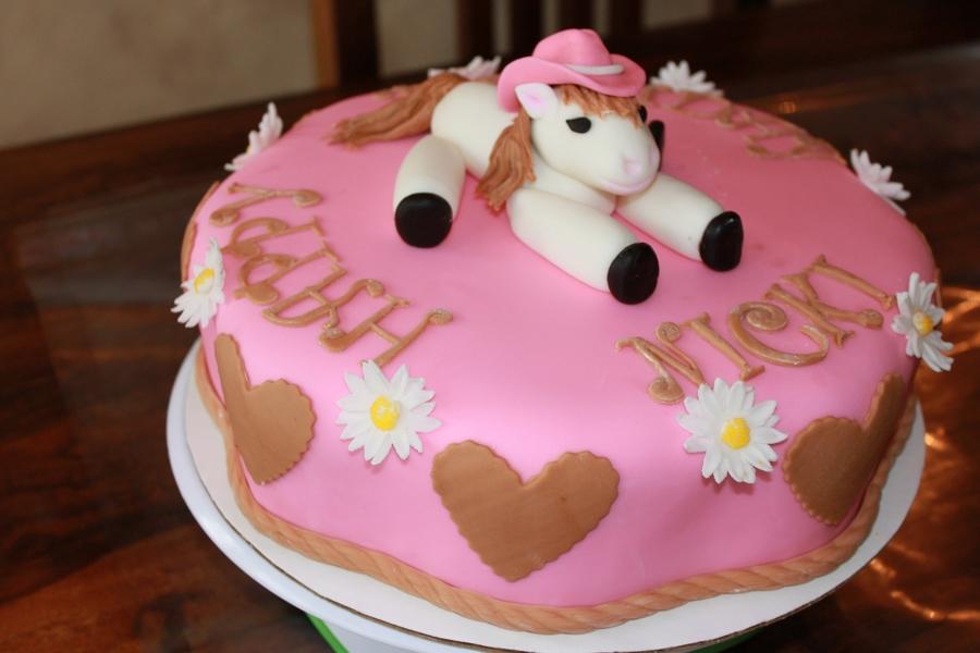 Cow Girl Horse Cake Cakecentral Com