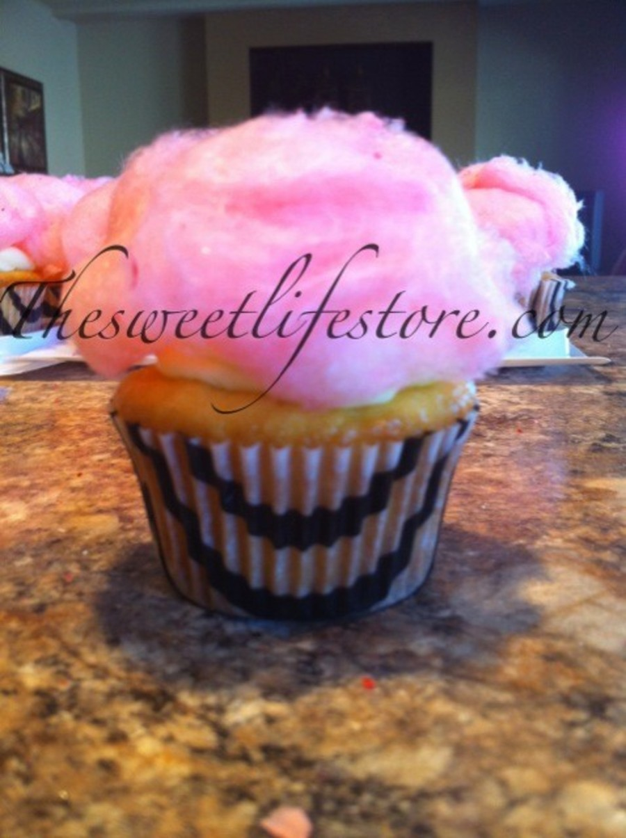 Cotton Candy Cupcake on Cake Central